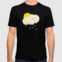 Raining day Mens Fitted Tee Black SMALL