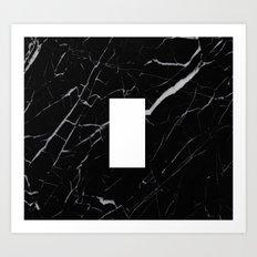 Black Marble - Alphabet I Art Print