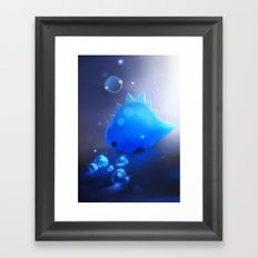 crystal dino Framed Art Print
