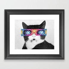 Laser Cat Framed Art Print