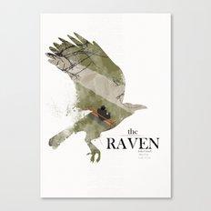 The Raven (2012) minimal poster Canvas Print