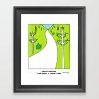 Travel Light Framed Art Print