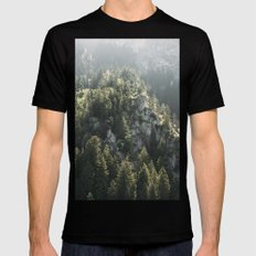 Mountain Lights - Landscape Photography Mens Fitted Tee SMALL Black