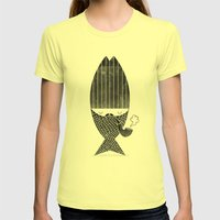 Fisherman Womens Fitted Tee Lemon SMALL