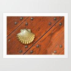 Gold shell Art Print