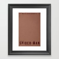 Minimalist Spider-Man Framed Art Print