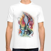 Knife Flower Mens Fitted Tee White SMALL