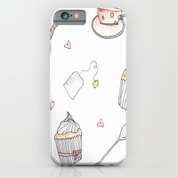 iPhone & iPod Case featuring Tea party by Elika