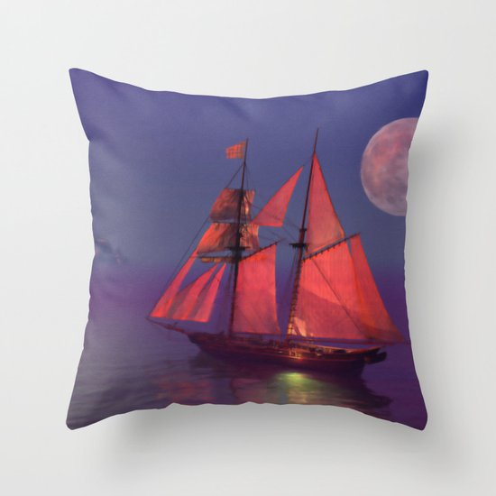 Where no breakers roar... Throw Pillow