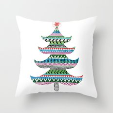 Christmas tree stripe Throw Pillow