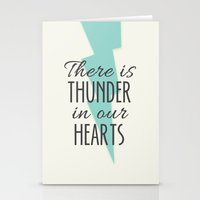 There is Thunder in our Hearts Stationery Cards