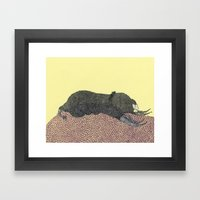 Mole Framed Art Print