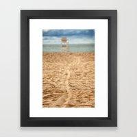 Sand Line Framed Art Print