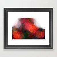 Christmas Lights Bokah  Framed Art Print