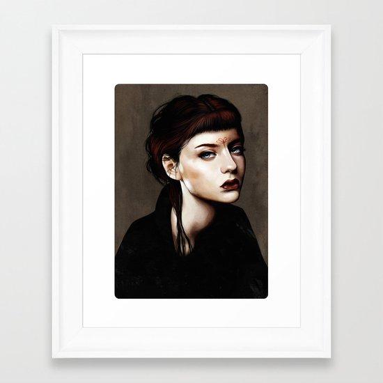 Zoey Scarlet Framed Art Print