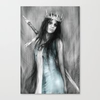 Her Heavy Crown Canvas Print