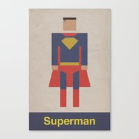 Man of Steel Retro Canvas Print