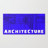 Architecture Blue Canvas Print