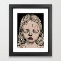 Rabbit Eyes Framed Art Print