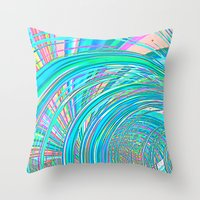 Re-Created  Hurricane 7 by Robert S. Lee Throw Pillow