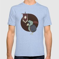 Warrior Bird Mens Fitted Tee Tri-Blue SMALL