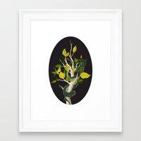 Snake - Green Framed Art Print