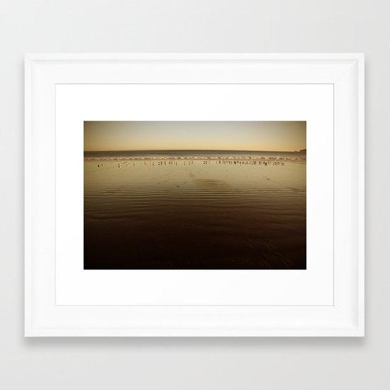 Seagulls on the Horizon Framed Art Print