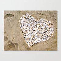 Love On The Beach Canvas Print