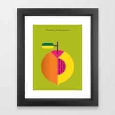 Fruit: Peach Framed Art Print