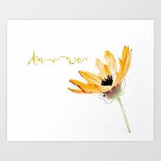 Flower Amore Art Print