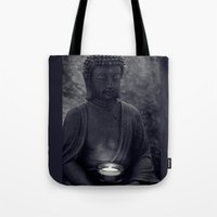 Buddha in the dark Tote Bag