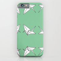 iPhone & iPod Case featuring Paper Crane Motif, 2013. by Tiffany Horan