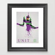 Evangelion Unit 01 Framed Art Print