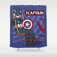 Captain Americana Shower Curtain