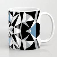 Abstract Kite Black and Blue Mug