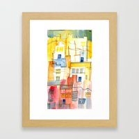Morning In The Village 2 Framed Art Print