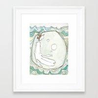 She Lived Underwater Framed Art Print