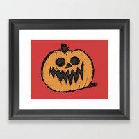 Spoopy Pumpkin  Framed Art Print