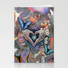 Love, light and the flower of life. Stationery Cards