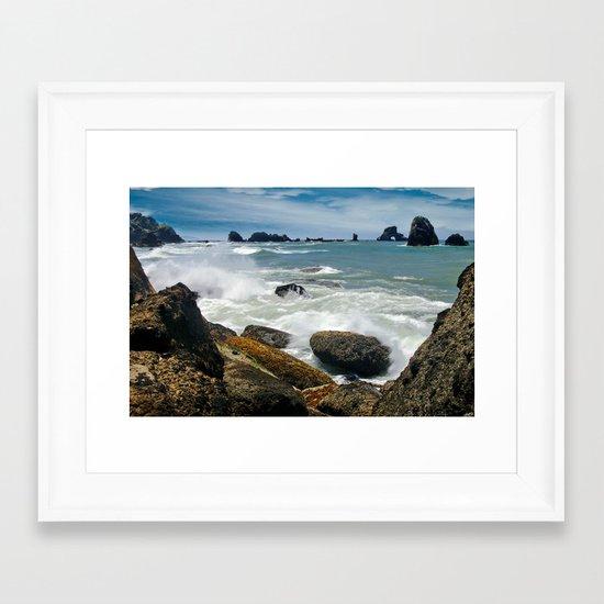 Oregon Coast fine art print Framed Art Print