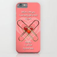 iPhone & iPod Case featuring Clip Heart Valentine by Dolphin and Cow
