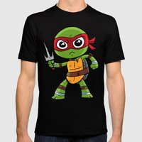 TMNT Raphael Mens Fitted Tee Black SMALL