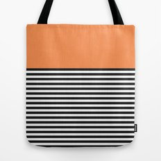 STRIPE COLORBLOCK {ORANGE} Tote Bag