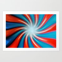 Crazy Colors Art Print