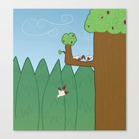 Birds And Trees Canvas Print