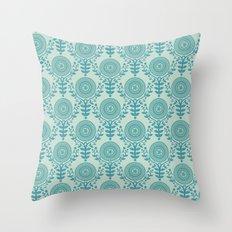 Paper Doily (BLUE) Throw Pillow