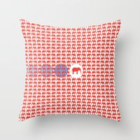ELEPATTERN Throw Pillow