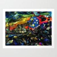 Shock & Desire Art Print