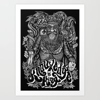Knowledge is King... Art Print