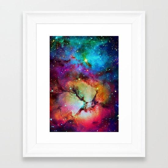 Floral Nebula Framed Art Print